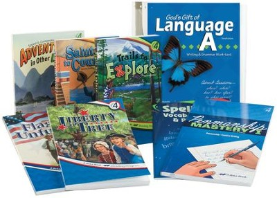 Grade 4 Homeschool Child Language Arts Kit   -