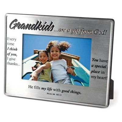 Grandkids, are a Gift From God, Photo Frame  -