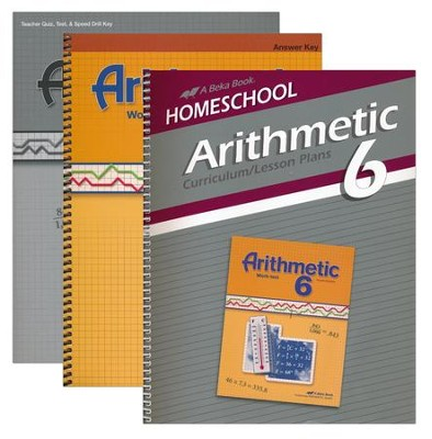 Abeka Grade 6 Homeschool Parent Arithmetic Kit  -