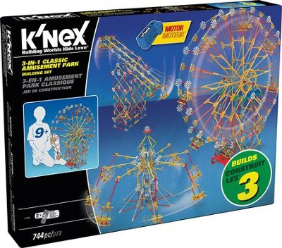 K'nex 3-in-1 Classic Amusement Park Building Set  -