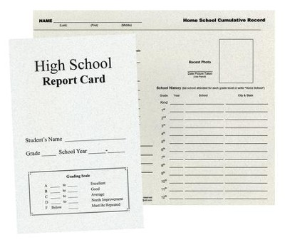 Record Keeping Kit for Home School Students, High School Edition  -