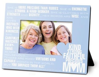 Mom, Stacked Words Photo Frame  -