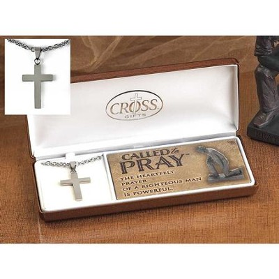 Called To Pray, Box Cross, Men's Pendant  -
