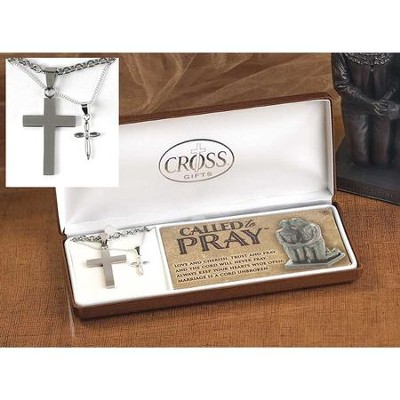 Couple's Called To Pray, Cross Necklace Set  -
