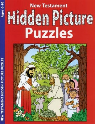 New Testament Hidden Picture Puzzles, Coloring & Activity Book   -