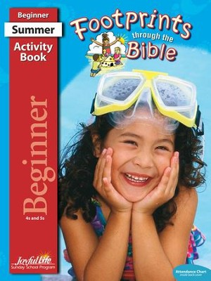 Footprints through the Bible Beginner (ages 4 & 5) Activity Book  -