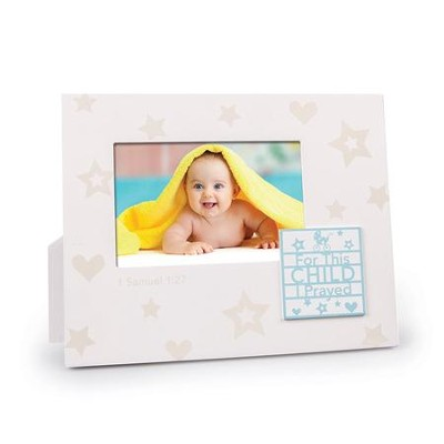 For This Child I Prayed Photo Frame, White  -