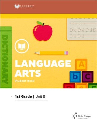 Lifepac Language Arts Grade 1 Unit 8: Vowel Digraphs, Possessives & Verbs  -