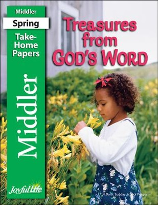 Treasures from God's Word Middler (Grades 3-4) Take-Home Papers  -