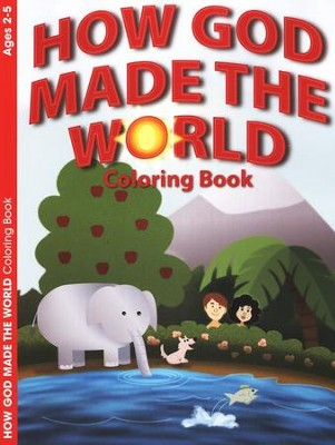 How God Made the World, Coloring / Activity Book (2-5)  -