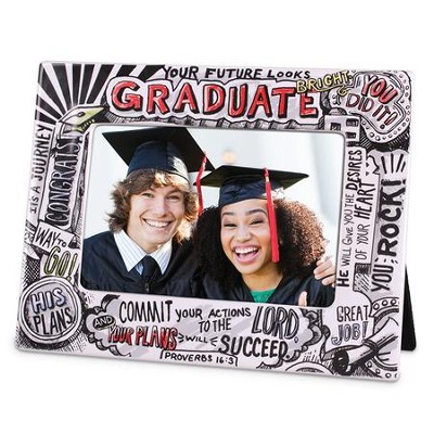 Graduate, Commit Your Plans To the Lord Photo Frame  -