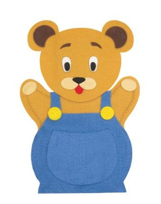Abeka Button Bear Felt Puppet   -