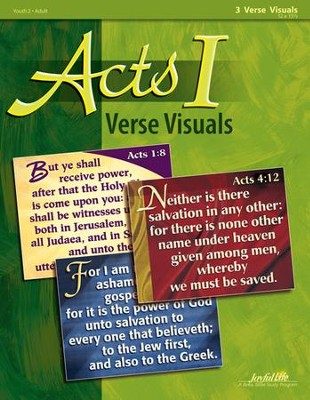 Acts I Ch. 1-12: Early Church History, Youth 2 to Adult Bible Study, Key Verse Visuals  -