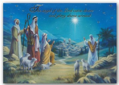 Nativity Star, Foil Christmas Cards, Box of 12  -