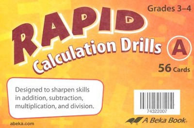 Abeka Rapid Calculation Drills A, Grade 3   -