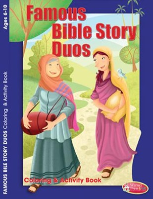 Famous Bible Story Partners Coloring Activity (6-10)  -