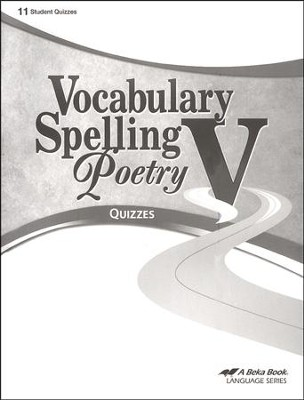 Abeka Vocabulary, Spelling, Poetry V Quizzes   -