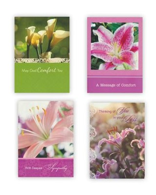 Lilies, Sympathy Cards, Box of 12  -
