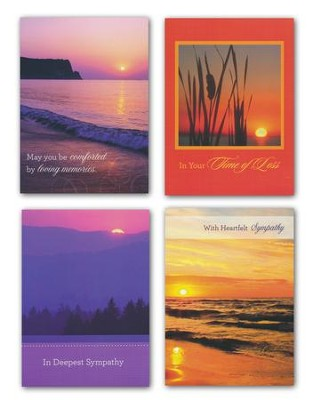 Sunsets, Sympathy Cards, Box of 12  -