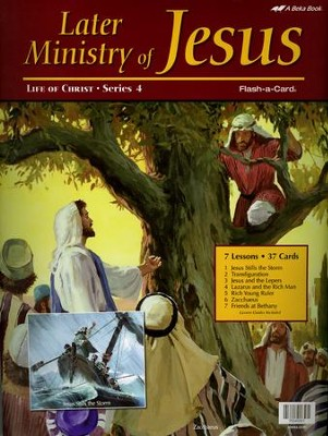Later Ministry of Jesus Flash-a-Card Set   -