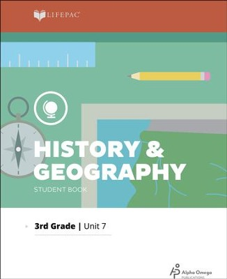 Lifepac History & Geography Grade 3, Unit 7: Midwestern States 2011 Ed.   -