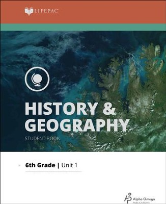 Lifepac History & Geography Grade 6 Unit 1: World Geography   -