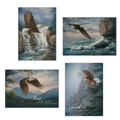 On Eagle's Wings Get Well Cards, Box of 12  -