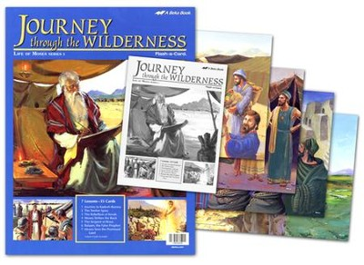 Bible Ventures Middler (grades 3-4) Journey through the Wilderness Flash-a-Card Set (Spring Quarter)  -