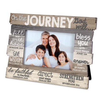 Journey Stacked Words Photo Frame  -