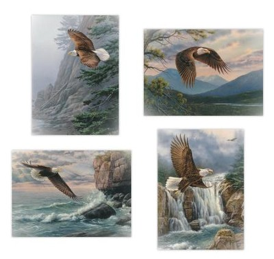 On Eagle's Wings Sympathy Cards, Box of 12  -