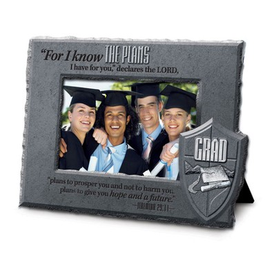 Know Plans, He is Your Shield Grad Photo Frame  -
