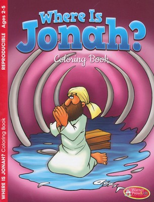 Where Is Jonah?--Coloring Book (ages 2 to 5)  -