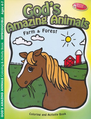 God's Amazing Animals--Coloring & Activity Book (ages 4 to 7)  -