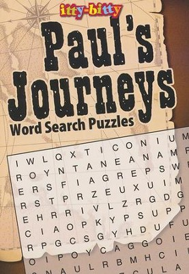 Paul Journey's Wordsearch--Itty-Bitty Bible Activity Book  -