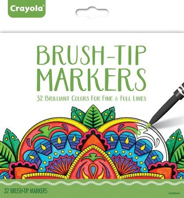 Fine Brush-Tip Markers, Pack of 32  -
