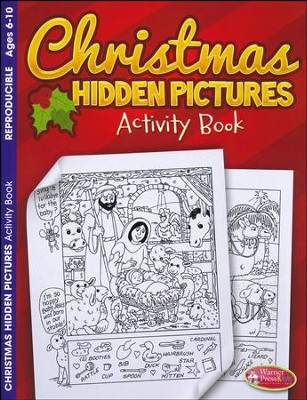 Christmas Hidden Pictures Coloring & Activity Book, Ages 6-10  -