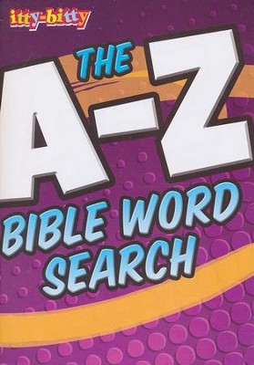A - Z Bible Word Search itty-bitty Bible Activity Book  -