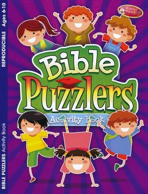Bible Puzzlers Activity Book, Ages 6-10  -