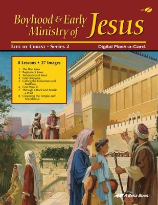 Abeka Boyhood and Early Ministry of Jesus Flash-a-Card on   CD-ROM  -