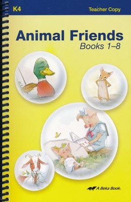 Abeka Animal Friends Books 1-8 Teacher Copy   -
