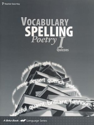 Abeka Vocabulary, Spelling, Poetry I Quizzes Key   -