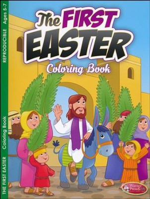 The First Easter Coloring Book (ages 5 to 7)  -