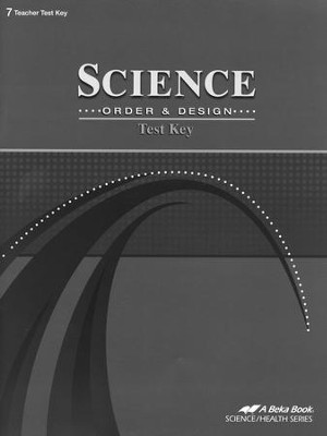 Science: Order & Design Tests Key   -