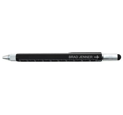 Personalized, Multi-Tool Pen With Cross, Black   -