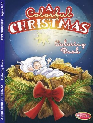 A Colorful Christmas Activity Book (Ages 8-10)  -