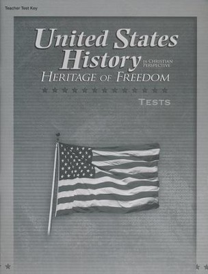 Abeka United States History in Christian Perspective:   Heritage of Freedom Tests Key  -