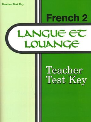 Langue et louange French Year 2 Teacher Test Key   -