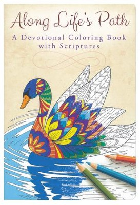 Along Life's Path: A Devotional Coloring Book with Scriptures   -
