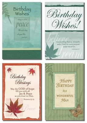 Birthday Cards for Him, Box of 12  -