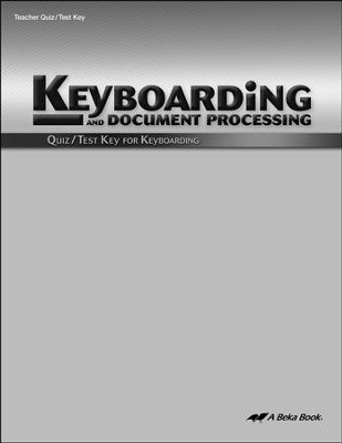 Keyboarding Quizzes & Tests Key   -